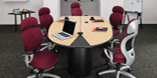 Nutcracker tables are easily adjustable to suit both large or small meetings